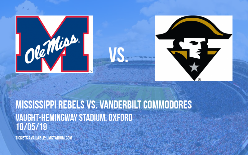 PARKING: Mississippi Rebels vs. Vanderbilt Commodores at Vaught-Hemingway Stadium