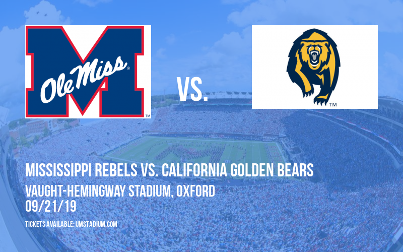 Mississippi Rebels vs. California Golden Bears at Vaught-Hemingway Stadium